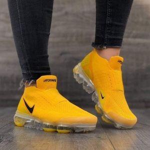 Nike air max vapormax yellow black 2020 laceless
